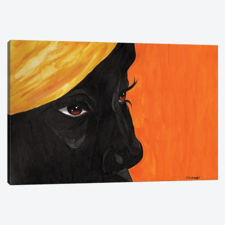 Becoming The Sun Canvas Print #TJG5} by TJ Agbo Art Print