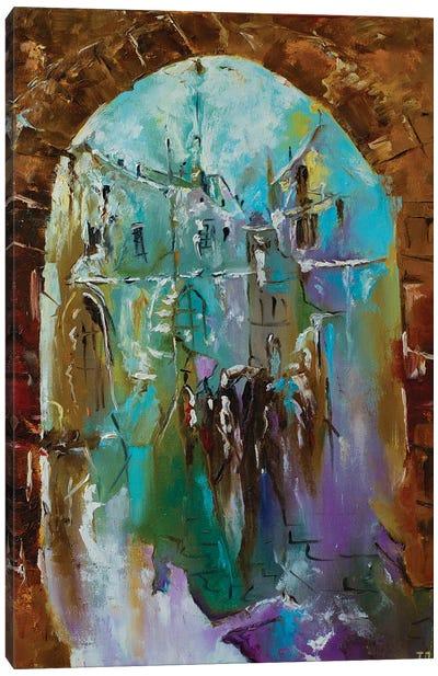 Old City. November Canvas Art Print
