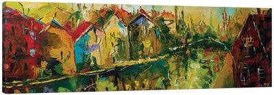 Autumn In Amsterdam Canvas Art Print
