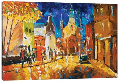Streets Of Montreal Canvas Art Print