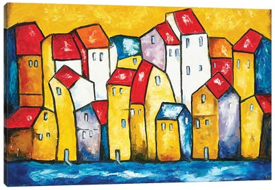 Town Canvas Art Print