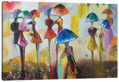 With Rain Canvas Art Print