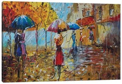 Streets Of Paris. Rain Canvas Art Print