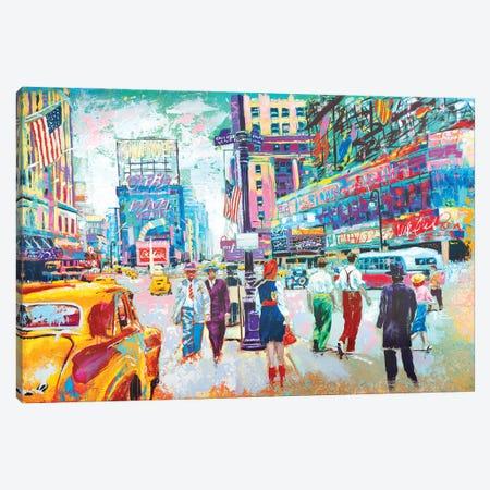 Happy New York 1950s Canvas Print #TKA15} by Tadaomi Kawasaki Art Print