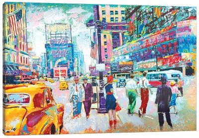 Happy New York 1950s Canvas Art Print