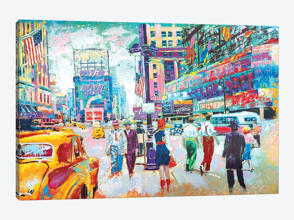 Happy New York 1950s by Tadaomi Kawasaki 1-piece Canvas Artwork