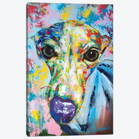 Italian Greyhound II 3-Piece Canvas #TKA16} by Tadaomi Kawasaki Art Print