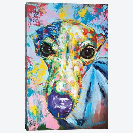 Italian Greyhound II Canvas Print #TKA16} by Tadaomi Kawasaki Art Print