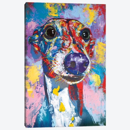 Italian Greyhound III 3-Piece Canvas #TKA17} by Tadaomi Kawasaki Canvas Art Print