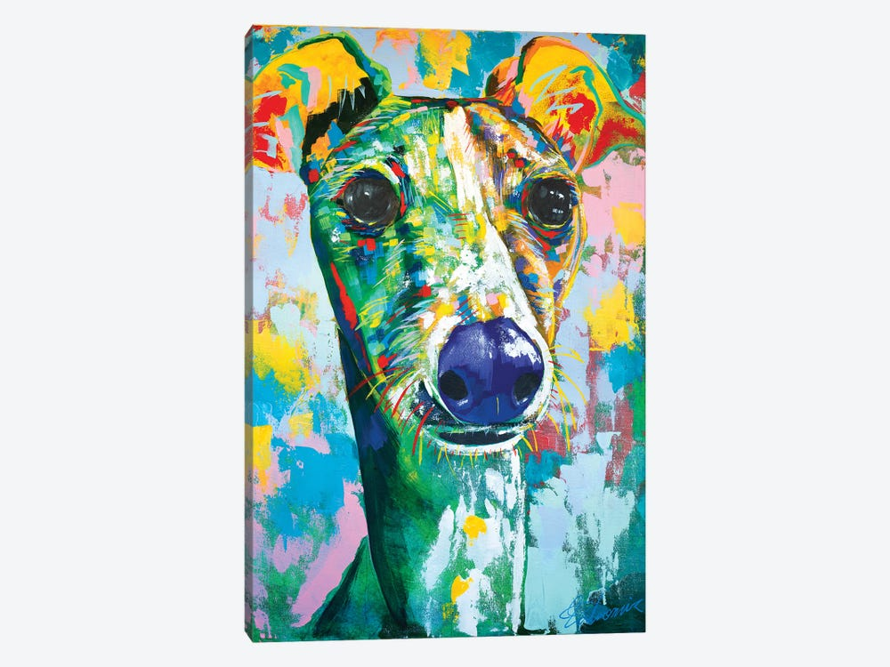Italian Greyhound IV by Tadaomi Kawasaki 1-piece Canvas Print