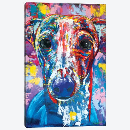 Italian Greyhound V 3-Piece Canvas #TKA19} by Tadaomi Kawasaki Canvas Wall Art