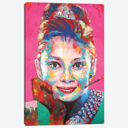 Audrey Hepburn I Canvas Print #TKA1} by Tadaomi Kawasaki Canvas Print
