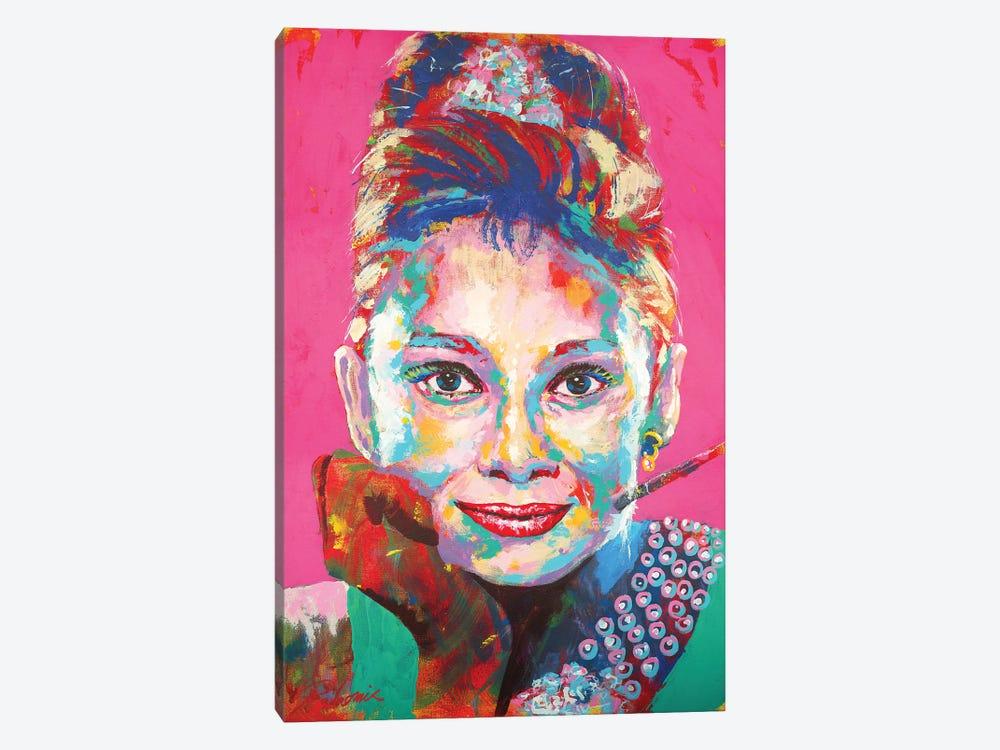 Audrey Hepburn I by Tadaomi Kawasaki 1-piece Canvas Wall Art
