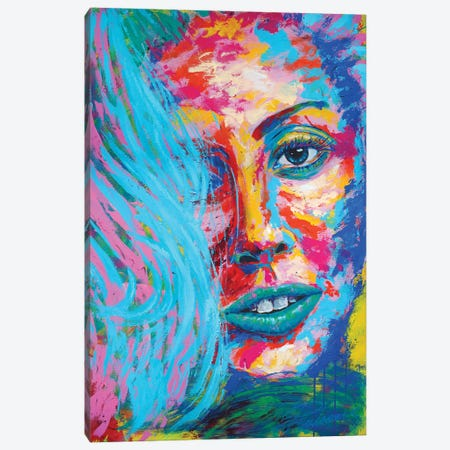 Lady Gaga III Canvas Print #TKA24} by Tadaomi Kawasaki Canvas Artwork