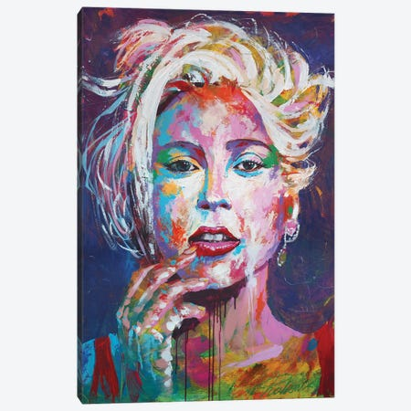 Lady Gaga I Canvas Print #TKA26} by Tadaomi Kawasaki Canvas Art