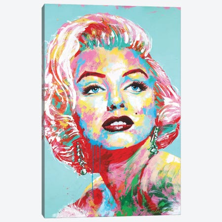 Marilyn Monroe II Canvas Print #TKA27} by Tadaomi Kawasaki Canvas Art