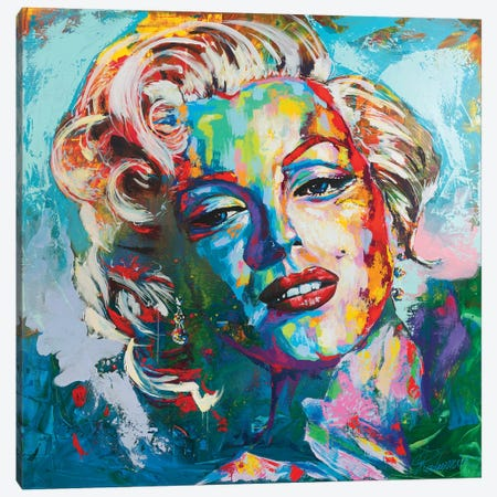 Marilyn Monroe IV Canvas Print #TKA28} by Tadaomi Kawasaki Canvas Art Print