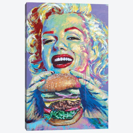 Marilyn Monroe III Canvas Print #TKA29} by Tadaomi Kawasaki Canvas Print