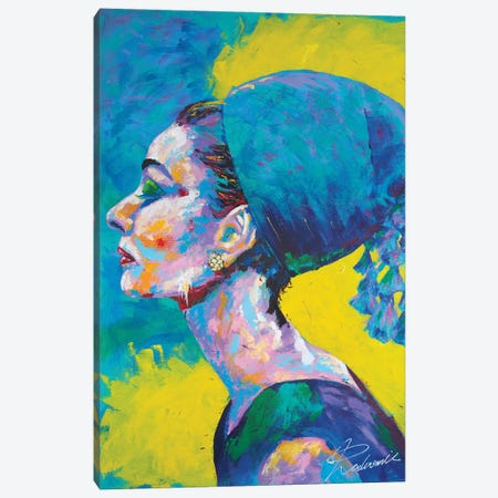 Audrey Hepburn II Canvas Print #TKA2} by Tadaomi Kawasaki Canvas Print