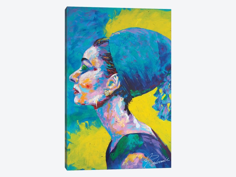 Audrey Hepburn II by Tadaomi Kawasaki 1-piece Canvas Print