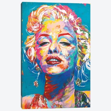 Marilyn Monroe I Canvas Print #TKA31} by Tadaomi Kawasaki Canvas Wall Art