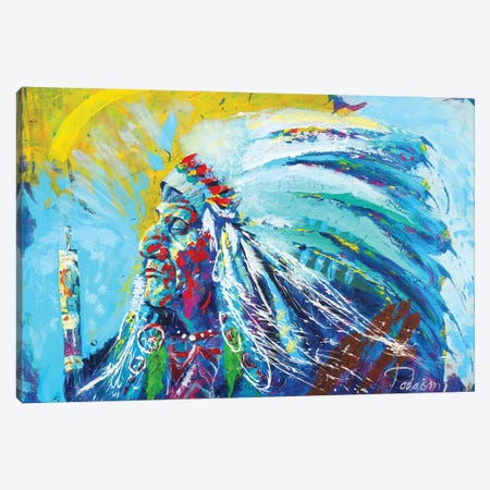 Native American Canvas Print #TKA32} by Tadaomi Kawasaki Canvas Art