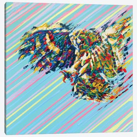 Owl - Speed Series Canvas Print #TKA33} by Tadaomi Kawasaki Canvas Wall Art