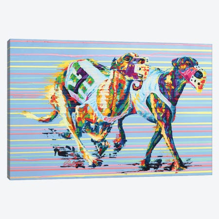 Whippet - Speed Series Canvas Print #TKA35} by Tadaomi Kawasaki Art Print