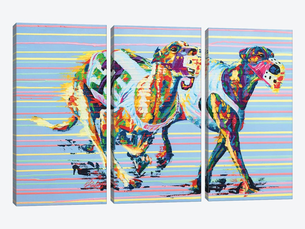 Whippet - Speed Series by Tadaomi Kawasaki 3-piece Canvas Artwork