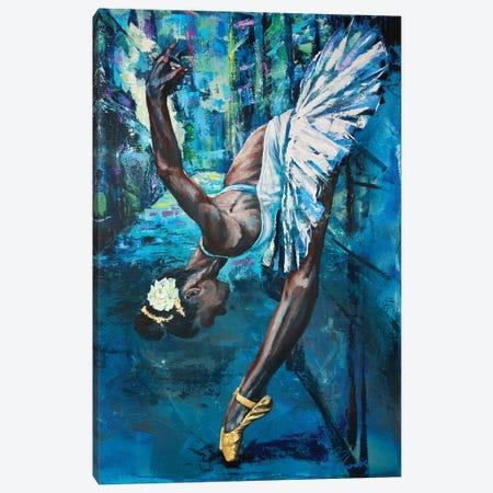 A Swan In The Backstreet Canvas Print #TKA3} by Tadaomi Kawasaki Canvas Art Print