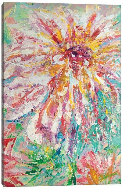 Abstracted Dahlia Canvas Art Print