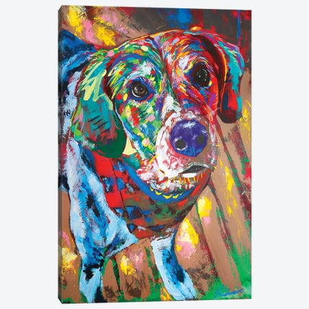 Beagle Portrait Canvas Print #TKA41} by Tadaomi Kawasaki Canvas Art Print