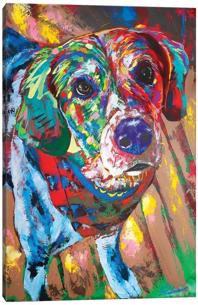 Beagle Portrait Canvas Art Print