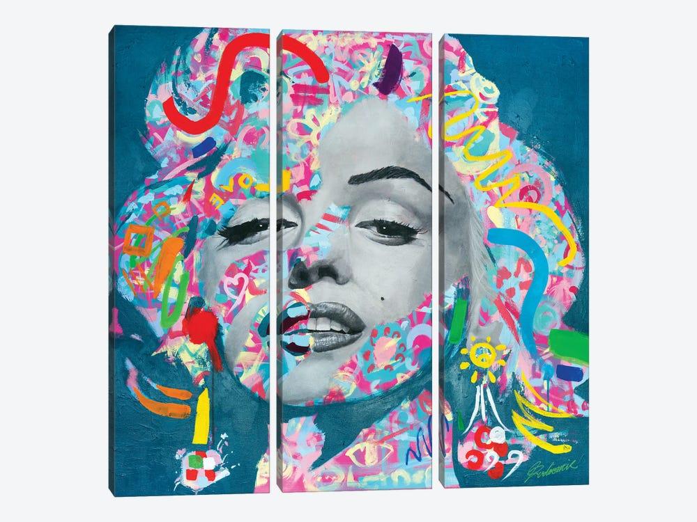 Marilyn Monroe V by Tadaomi Kawasaki 3-piece Canvas Artwork