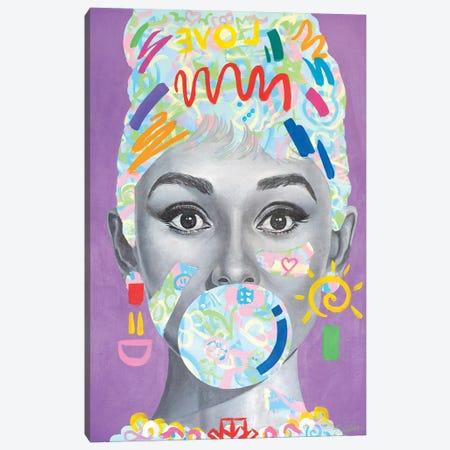 Audrey Hepburn - Kids X Tadaomi Collaboration - Canvas Print #TKA46} by Tadaomi Kawasaki Canvas Art