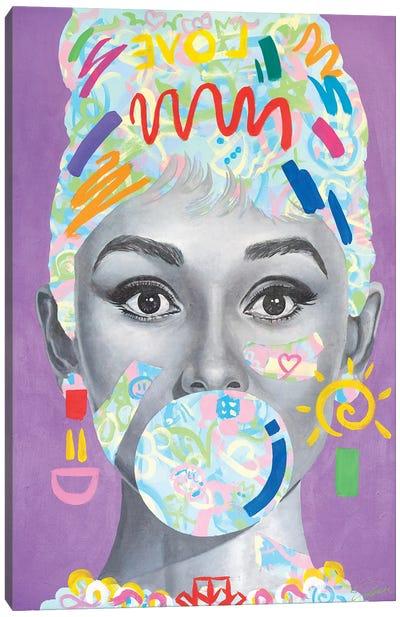 Audrey Hepburn - Kids X Tadaomi Collaboration - Canvas Art Print