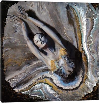 Mermaid In The Water Canvas Art Print