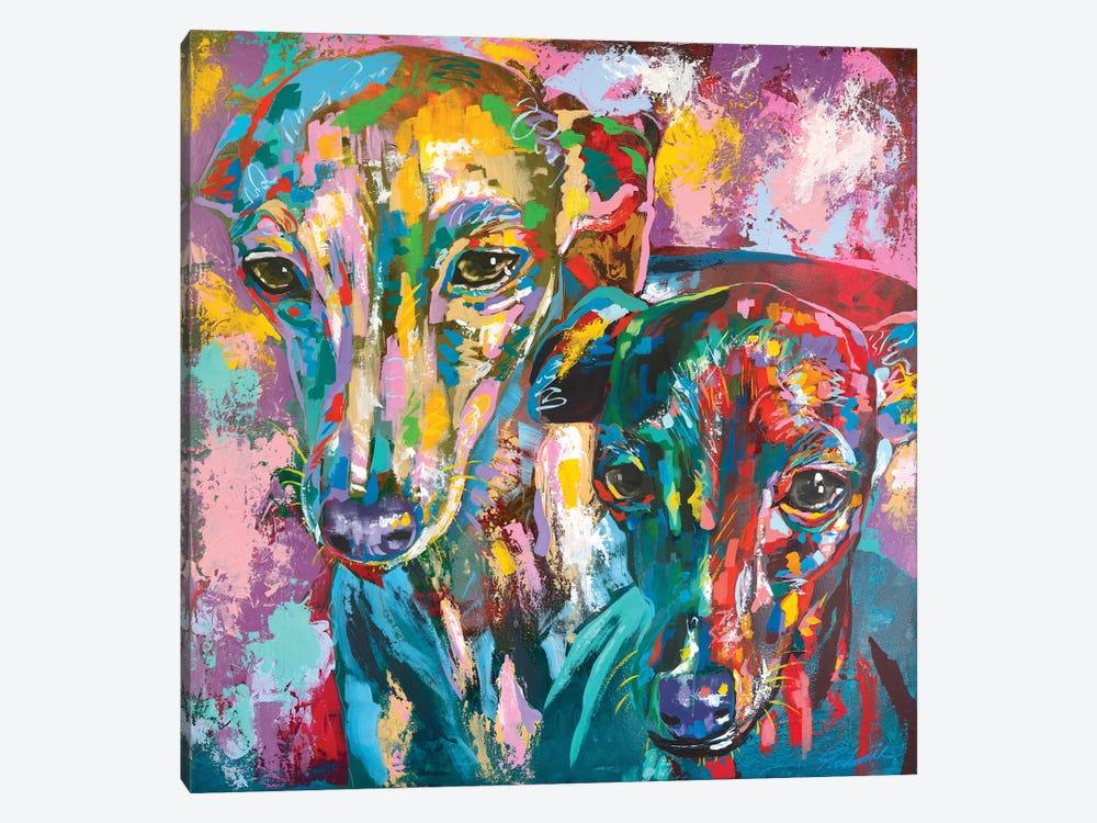 Italian Greyhound 07 by Tadaomi Kawasaki 1-piece Canvas Art Print