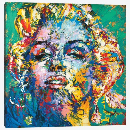 Marilyn Monroe IX Canvas Print #TKA56} by Tadaomi Kawasaki Canvas Print