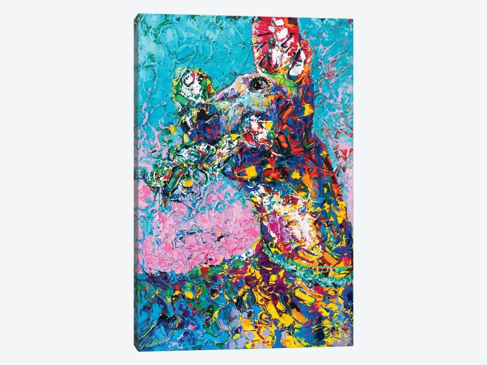 Fetch / Italian Greyhound Abstact Portrait by Tadaomi Kawasaki 1-piece Canvas Art