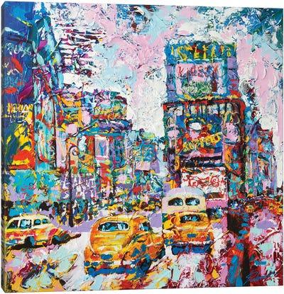 Happy New York 1970's Canvas Art Print