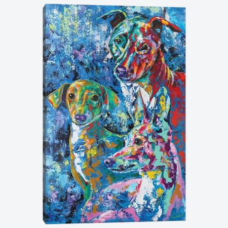 Italian Greyhound XI Canvas Print #TKA62} by Tadaomi Kawasaki Art Print