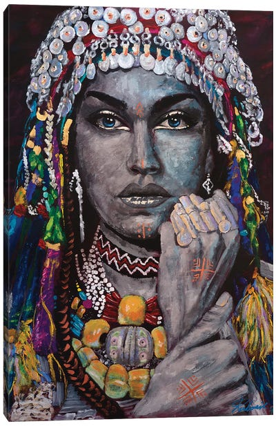 Berber - Amazigh Lady Canvas Art Print