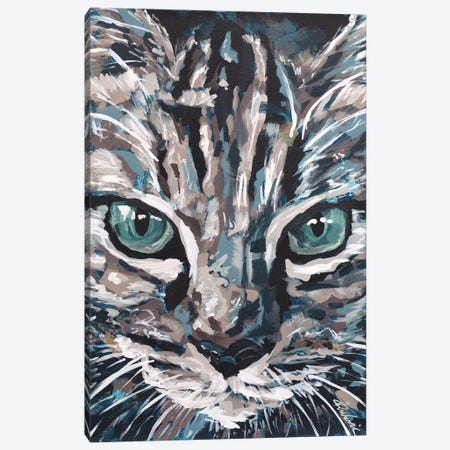 Cat I Canvas Print #TKA7} by Tadaomi Kawasaki Canvas Wall Art