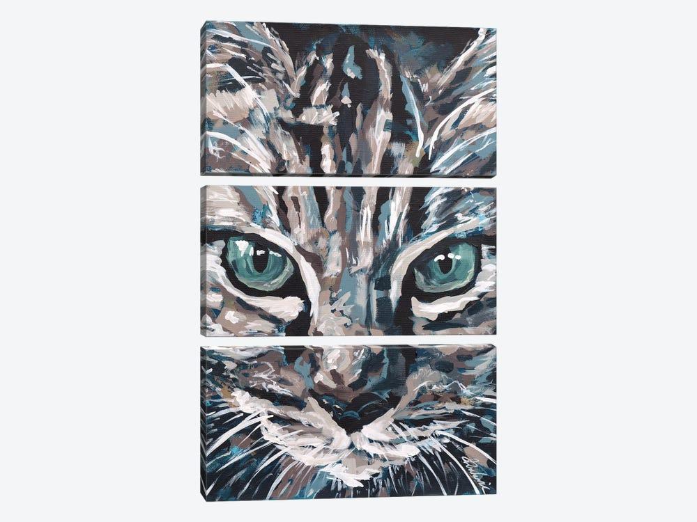 Cat I by Tadaomi Kawasaki 3-piece Canvas Wall Art