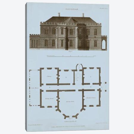 Chambray House & Plan III Canvas Print #TKE1} by Thomas Kelly Canvas Print