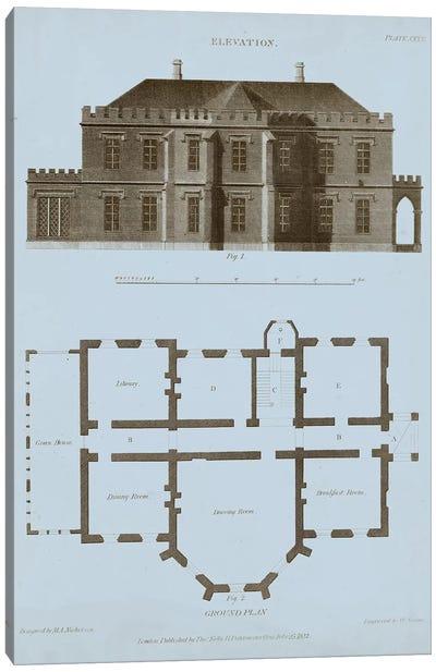 Chambray House & Plan III Canvas Art Print
