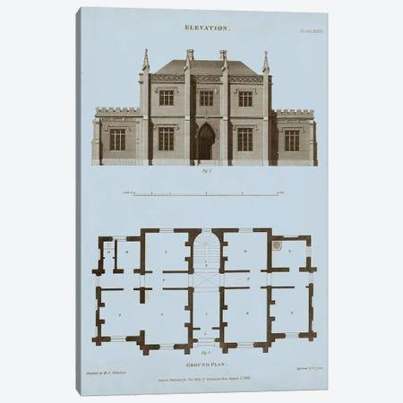 Chambray House & Plan V Canvas Print #TKE2} by Thomas Kelly Canvas Art Print
