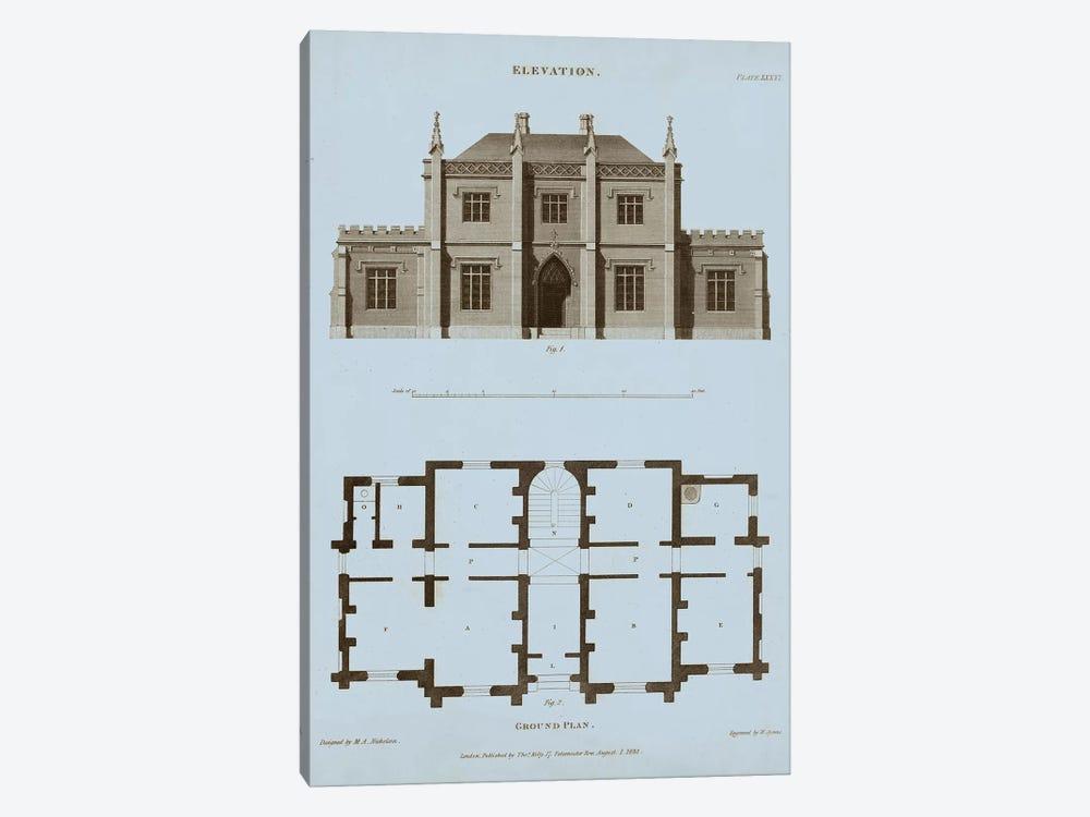 Chambray House & Plan V by Thomas Kelly 1-piece Canvas Print