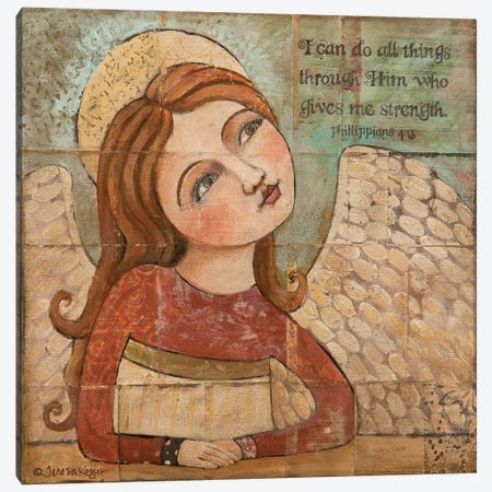 He Gives Me Strength Canvas Print #TKG103} by Teresa Kogut Canvas Print